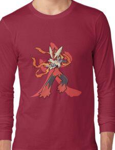 Blaziken With Fire Kanji Long Sleeve T-Shirt