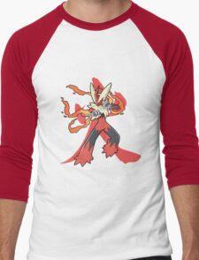 Blaziken With Fire Kanji Men's Baseball ¾ T-Shirt