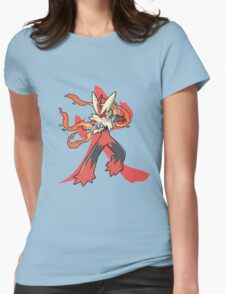 Blaziken With Fire Kanji Womens Fitted T-Shirt