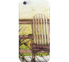Rocking Chair on Boardwalk iPhone Case/Skin
