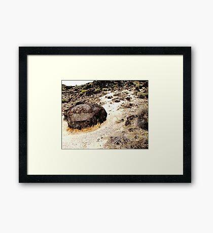 Map Rock Framed Print