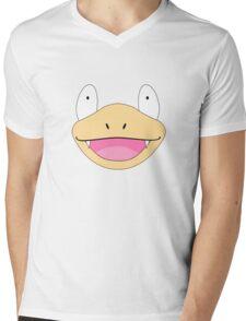 Slowpoke Pokemon Face Mens V-Neck T-Shirt