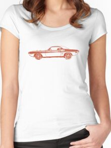 1971 Dodge Challenger Women's Fitted Scoop T-Shirt