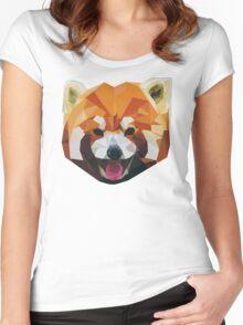 Red Panda Tee Shirt Women's Fitted Scoop T-Shirt