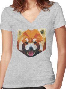 Red Panda Tee Shirt Women's Fitted V-Neck T-Shirt