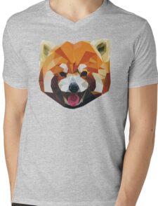 Red Panda Tee Shirt Mens V-Neck T-Shirt