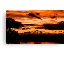 Sunset on Taupo lake  Canvas Print
