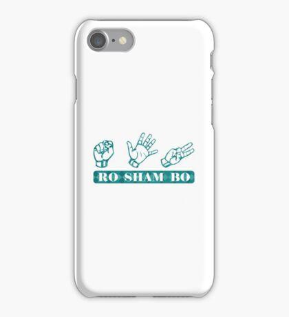 Ro Sham Bo - Rock Paper Scissors iPhone Case/Skin