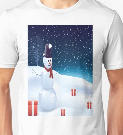 Mister Snowman  Unisex T-Shirt