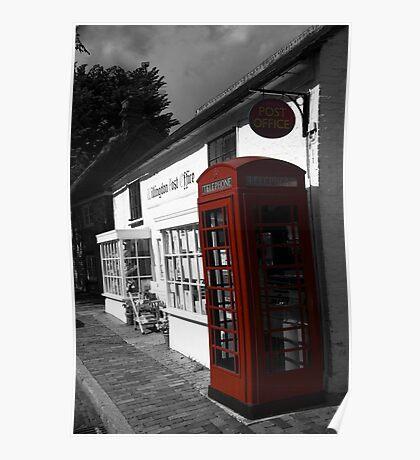 Telephone Box - willingdon Post Office Poster