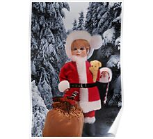 ❤ 。◕‿◕。 LITTLE MISS SANTA AND A SACK FULL OF GIFTS ❤ 。◕‿◕。  Poster