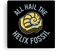 Hail the Helix Fossil Canvas Print