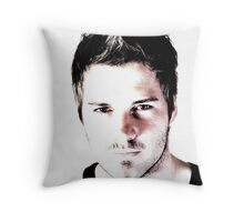 Man Portrait Throw Pillow