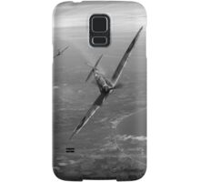 Battle of Britain duellists: Spitfire and Bf 109 head to head Samsung Galaxy Case/Skin