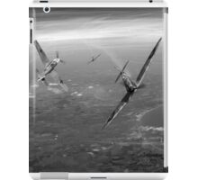 Battle of Britain duellists: Spitfire and Bf 109 head to head iPad Case/Skin