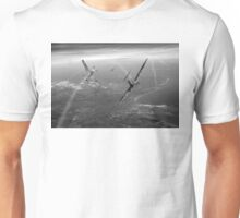 Battle of Britain duellists: Spitfire and Bf 109 head to head Unisex T-Shirt