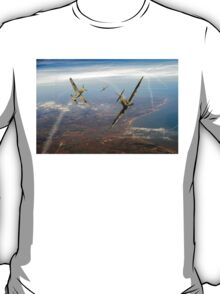 Battle of Britain duellists: Spitfire and Bf 109 head to head T-Shirt