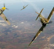 Battle of Britain duellists: Spitfire and Bf 109 head to head Sticker