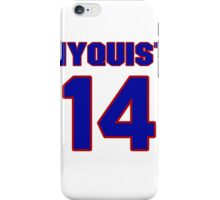 National Hockey player Gustav Nyquist jersey 14 iPhone Case/Skin