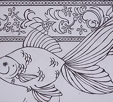 gold fish by Leanne Inwood