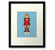 8Bit Iron Man Framed Print