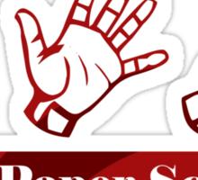 Ro Sham Bo - Rock Paper Scissors Sticker