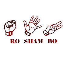 Ro Sham Bo - Rock Paper Scissors Photographic Print