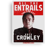 VOTE CROWLEY Canvas Print