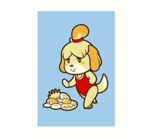 Isabelle's Day Off Art Print
