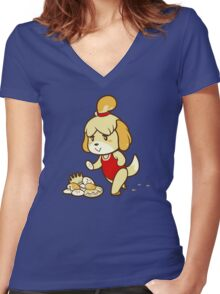 Isabelle's Day Off Women's Fitted V-Neck T-Shirt