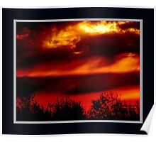 Sunrise at the Port of Montreal Poster