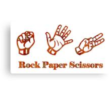 Ro Sham Bo - Rock Paper Scissors Canvas Print