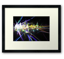 Coloured prisms Framed Print