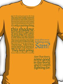 The Two Towers-- Sam's Speech T-Shirt