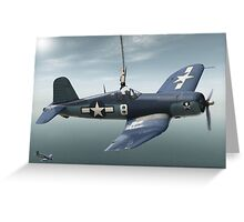 South Pacific Corsair  Greeting Card