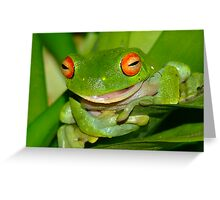 The Talking frog Greeting Card
