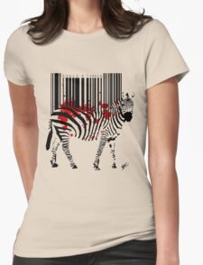 Code Zebra Womens Fitted T-Shirt