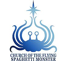 Church of the Flying Spaghetti Monster logo Photographic Print