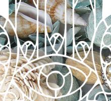 Grey Seashell Hamsa Sticker