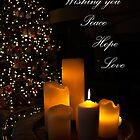 Wishing you Peace Hope Love by Marianne Skov Jensen