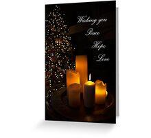 Wishing you Peace Hope Love Greeting Card