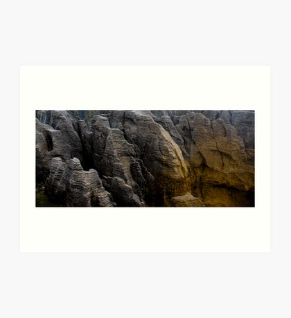 Pancake Rocks, New Zealand Art Print