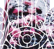 Hologram Rose Hamsa Sticker