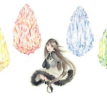 Bravely Default Watercolor by aini