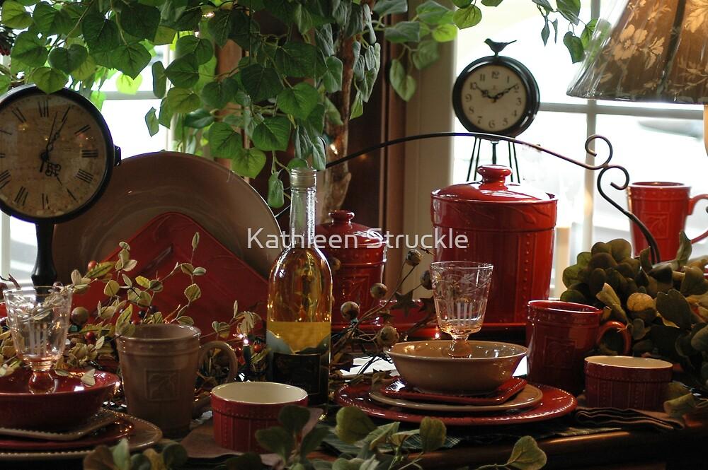 Still Life Of Dinner Ware by Kathleen Struckle