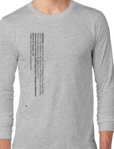 ingredients: (Drinker's version) Long Sleeve T-Shirt