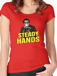 NIGHTCRAWLER - STEADY HANDS  Women's Fitted Scoop T-Shirt