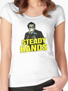 NIGHTCRAWLER - STEADY HANDS  Women's Fitted Scoop T-Shirt