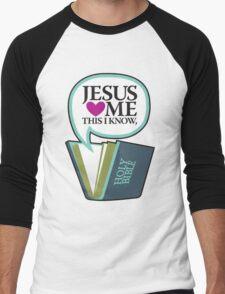 Jesus Loves Me Men's Baseball ¾ T-Shirt
