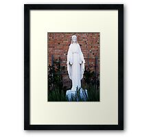 Mother Mary in the Garden Framed Print